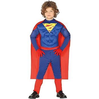 COSTUME CARNEVALE SUPER MAN BOY VESTITO BAMBINO GUIRCA EROE MUSCOLOSO SUPEREROI