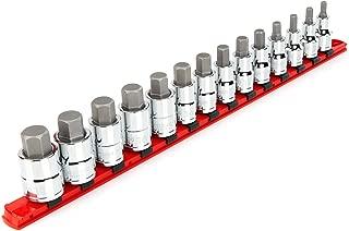 TEKTON 1/2 Inch Drive Hex Bit Socket Set, 14-Piece (6-19 mm)   SHB92102