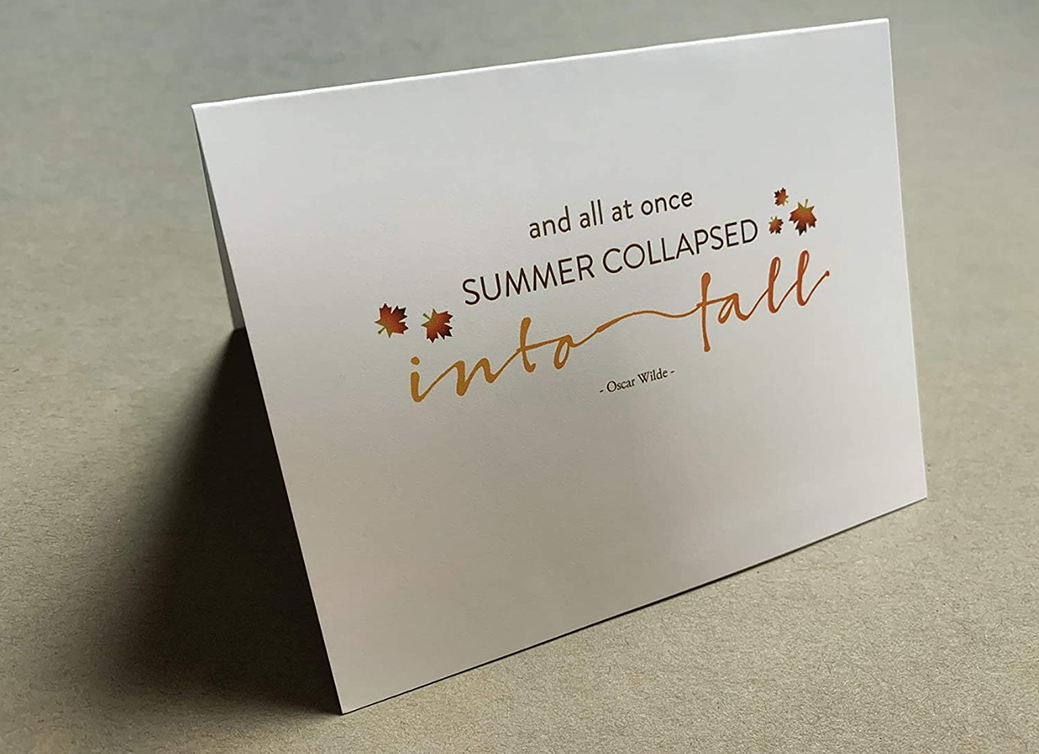 Stationare I Outlet SALE Luxury goods Love Fall Collection Notecards Notecard Thin
