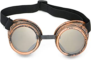 Skeleteen Steampunk Goggles Costume Accessories - Cyber Victorian Welding Glasses - 1 Piece