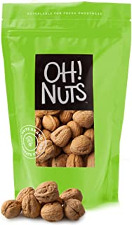 Oh! Nuts Raw Walnuts in Shell | Resealable 4-Lb. Bulk Bag for Ultimate Freshness | All-Natural, Whole Walnuts for a Health...