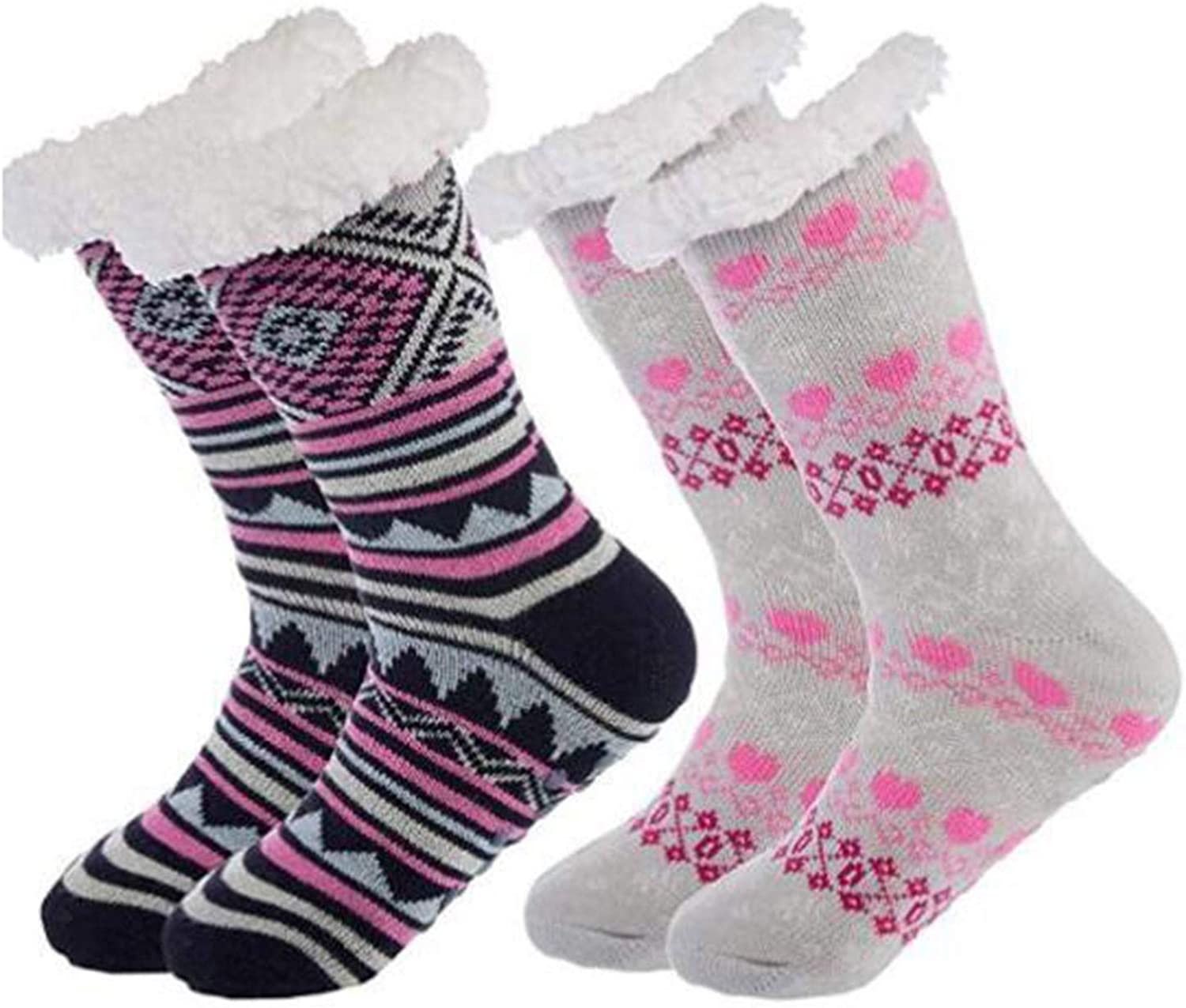 Women Socks Thick lowest OFFicial store price Knit Sherpa Thermal Fleece Fuzzy Lined Slippe