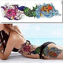 EROSPA® Tattoo-Bogen temporär - Fisch Wasser Welle Blume B
