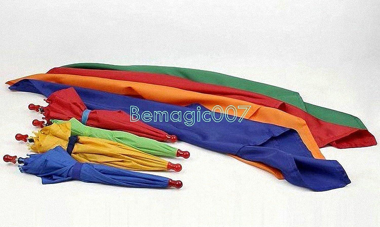 Silk to Four Umbrellas  Parasol Production Magic