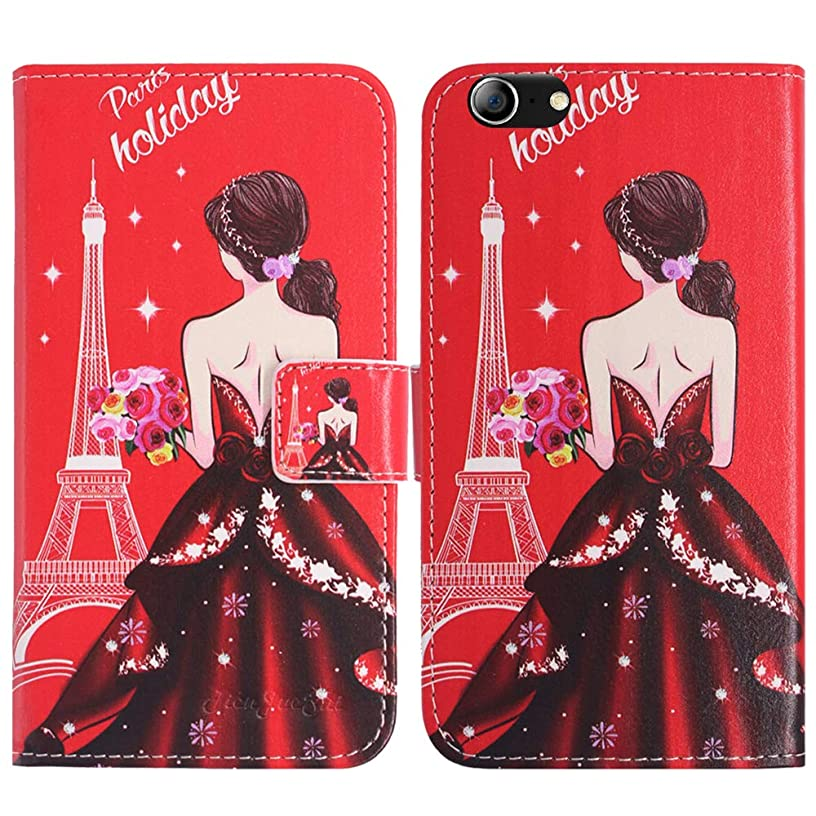 TienJueShi Dream Girl Fashion Style Book Stand Flip PU Leather Magnet Card Slot Protector Phone Case for orbic Wonder 5.5 inch Cover Etui Wallet
