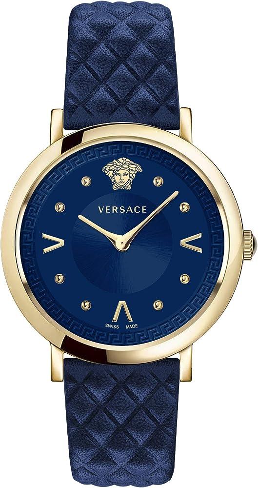 Versace orologio pop chic da donna in acciaio e pelle VEVD003 19
