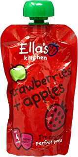 Ella's Kitchen Organic Puree, Strawberries And Apples, 120g (Pack of 1)
