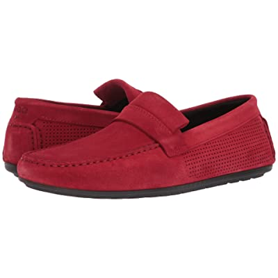 BOSS Hugo Boss Dandy Moccasin By Hugo (Dark Red) Men
