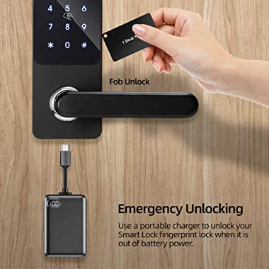 Security Smart Lock Touch, Keyless Entry Door Lock, Bluetooth Electronic Deadbolt, Touchscreen Keypad Electronic Lock with Ha