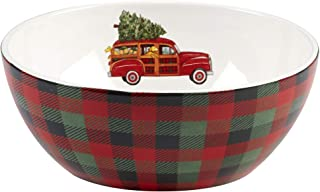 """Certified International 22790 Home for Christmas Deep Bowl 10"""" x 4"""" Servware, Serving Accessories, One Size, Multicolored"""