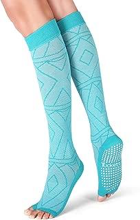 Thigh Highs Knee High Yoga Socks, Toeless Long Socks for Pilates, Barre