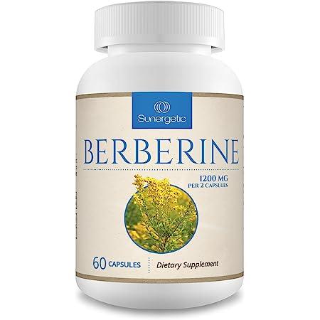 Premium Berberine Supplement - 1200mg Berberine Per Serving - Berberine HCL Supplement, Non-GMO - Powerful Berberine Complex for Blood Sugar Support - 60 Berberine Capsules