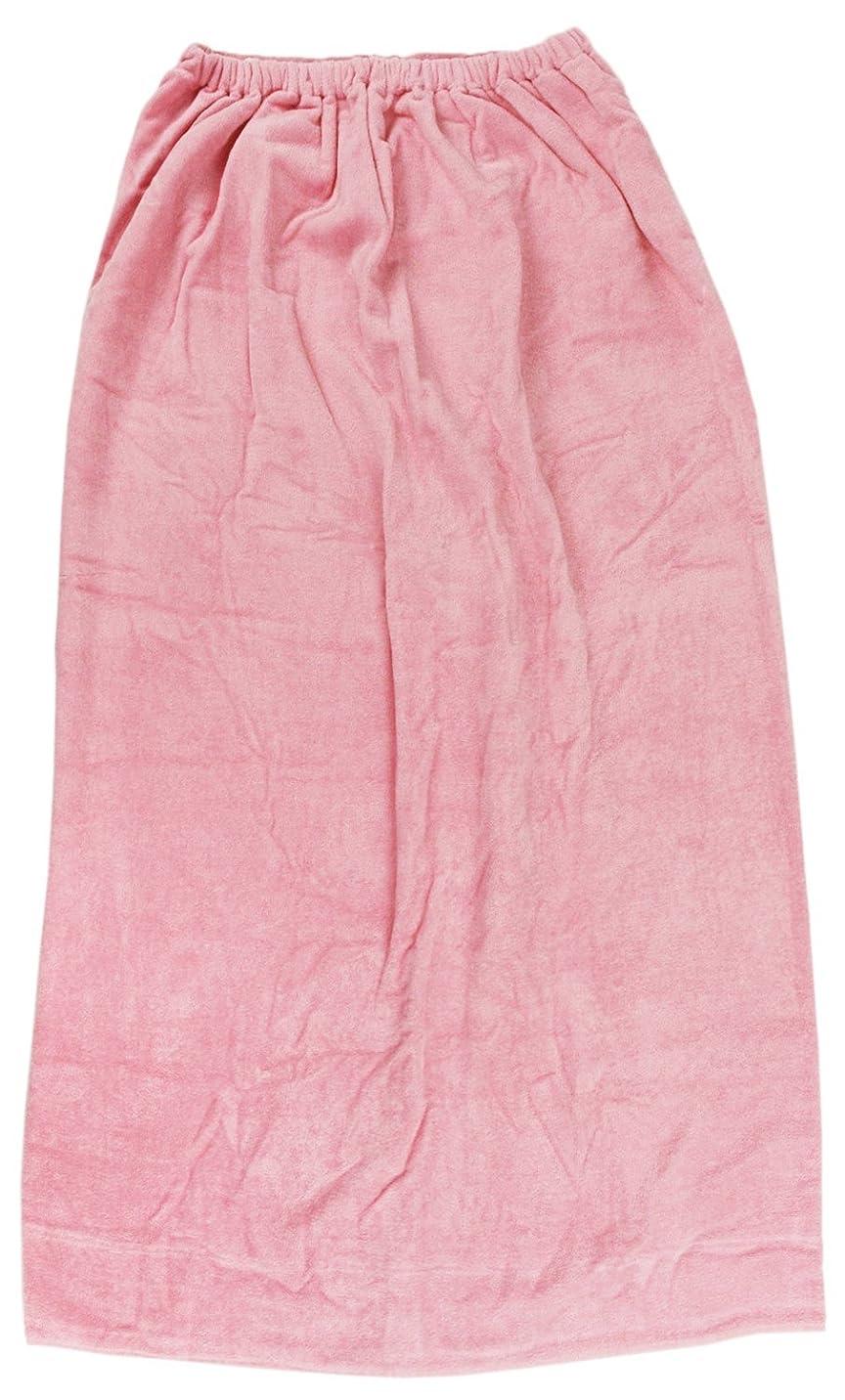 真っ逆さまセイはさておきラベ林(Hayashi) ラップタオル ピンク 約100×120cm シャーリングカラー 無地 MD454822