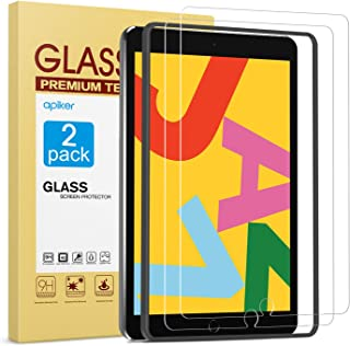 [2 Pack] Screen Protector for iPad 8th 7th Generation 10.2 Inch (iPad 8 7) 2020 2019 Release, apiker Tempered Glass Screen...