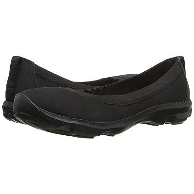 Crocs Busy Day Stretch Flat (Black/Black) Women