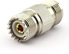 DGZZI 2-Pack UHF Female to N Female RF Coaxial Adapter UHF to N Coax Jack Connector