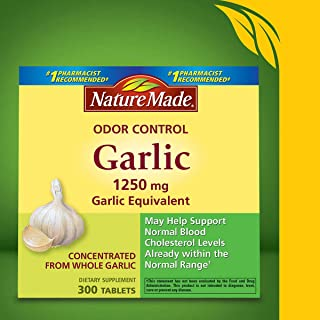Nature Made Odor Control Garlic, 1250mg, 100 Tabs (Pack of 3) by Nature Made