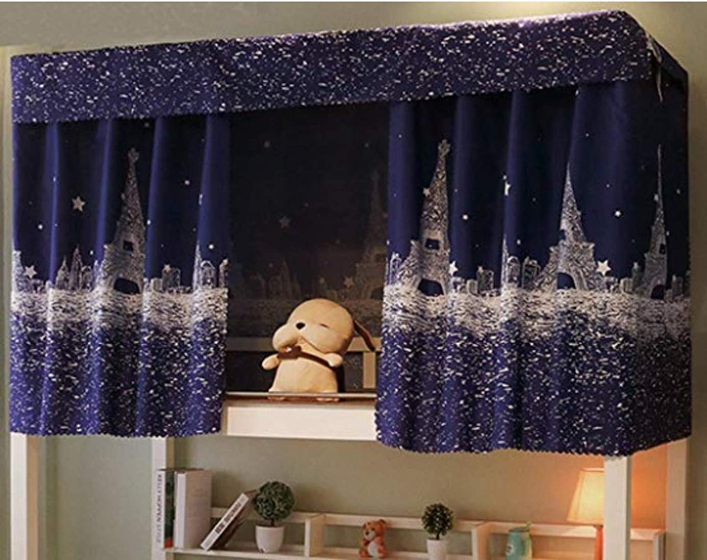 JIAHG Students Dormitory Bunk Bed Curtains/Single Bed Tent Curtain Shading Nets Dustproof Blackout Cloth Bed Canopy Mosquito Protection Net Bedroom Cabin Decor Mid-Sleeper Spread Blackout Curtains