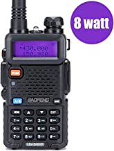 Walkie Talkies 2 Way Radio BaoFeng Radio Series UV-5RH High Power 8 Watt Dual Band Two Way Radio for Hiking Camping Trolling (Newer Version of Baofeng UV-5R) by LUITON