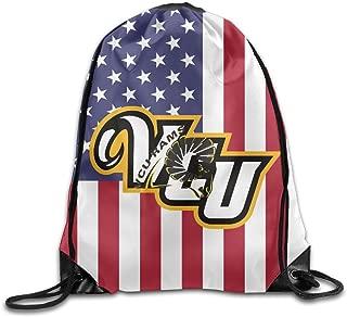 Vcu Rams University Logo Drawstring Backpack Bag Gym Sack