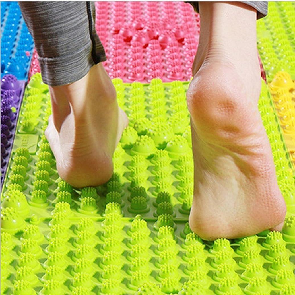 記念シーケンス高さ2 PCS足マッサージマット、鍼治療指圧循環リフレクソロジー足の痛みの緩和と筋肉のリラクゼーション(ランダムカラー)のためのバスルームバスマット