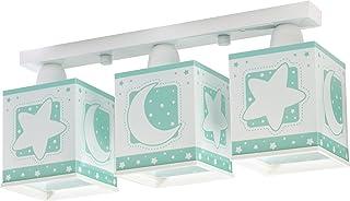 Dalber Luna Lámpara Infantil con diseño Estrellas, Verde