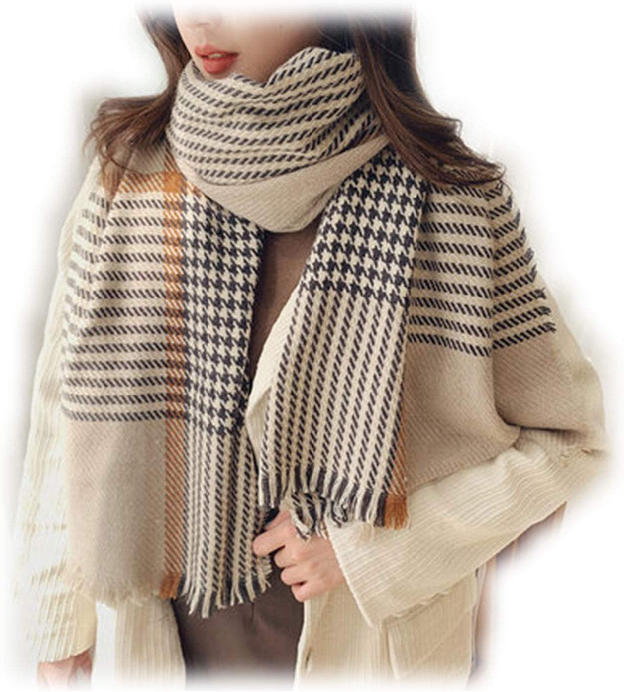 DUTUI Children's Winter Scarf, All-Match Classic Thick Warm Scarf for Men's Autumn and Winter, for Lovers