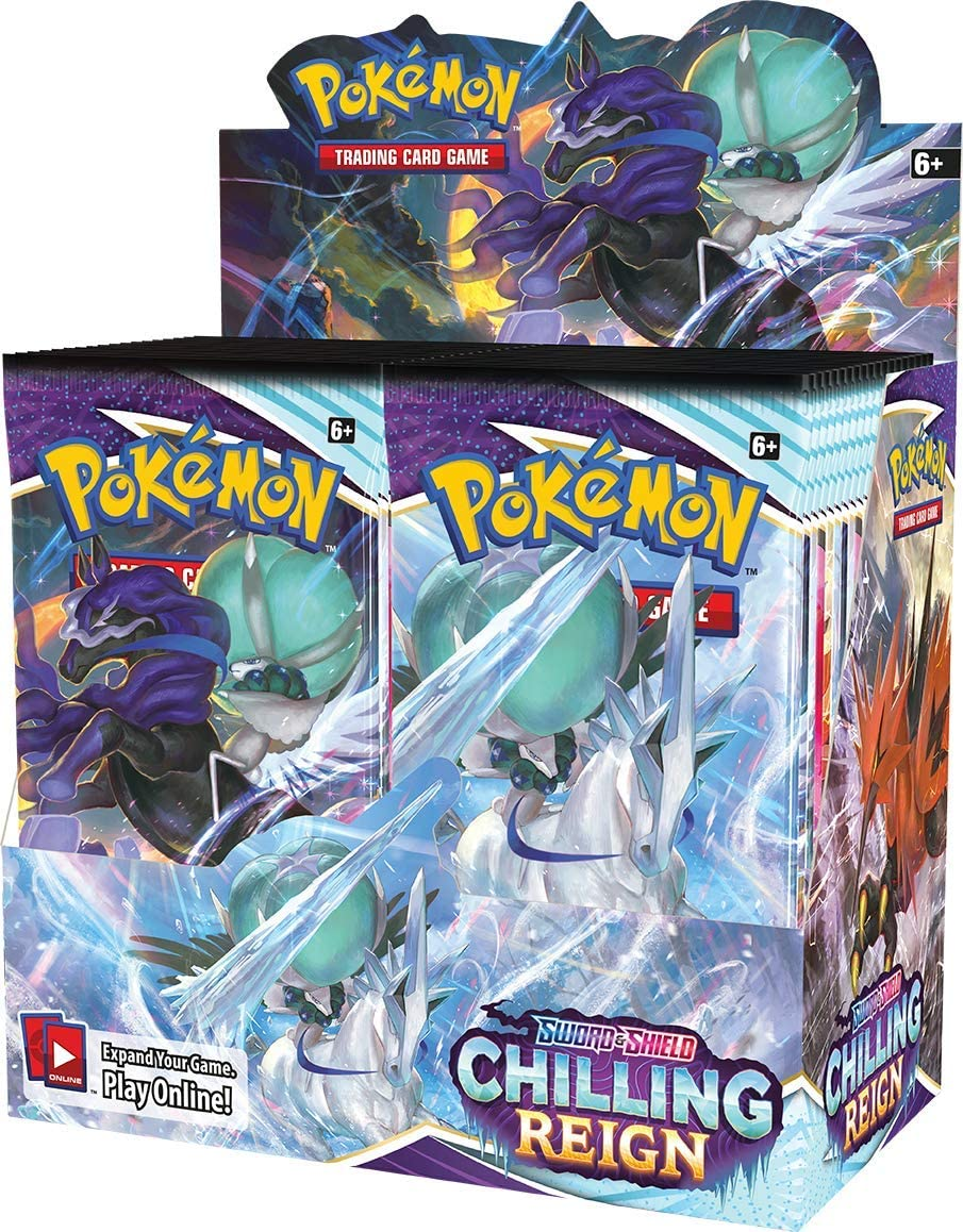 Genuine Free Shipping Ranking TOP9 Pokémon TCG: Sword Shield—Chilling Booster Box Display Reign