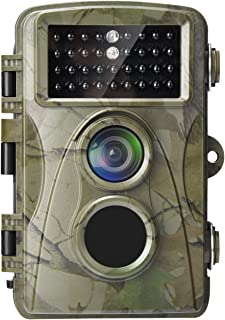 AlfaView Trail Camera 1080P HD Cámara de Caza y Juego con Lente Gran Angular activada por Movimiento Impermeable IP65 Cáma...