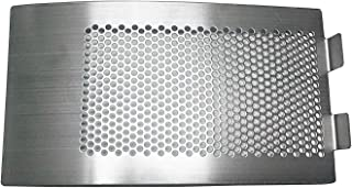 KAMaster Punched Mesh Screen for XLarge Big Green Egg Stainless Draft Door Kamado Grill Accessories Egg Bottom Vent Replacement Punched Metal Panel