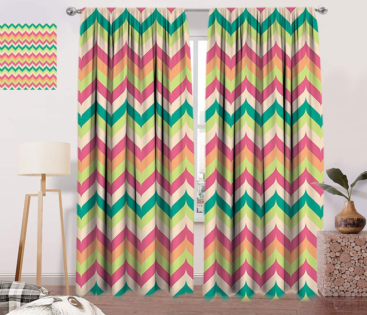 Chevron Decor latest Curtains Pattern Vintage with Style online shopping Down