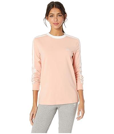adidas Originals 3-Stripes Long Sleeve Tee (Dusk Pink) Women