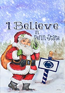 NCAA Penn State Nittany Lions Christmas Santa Holiday Garden Flag