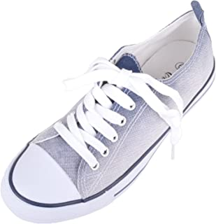 ABSOLUTE FOOTWEAR Womens Casual Summer/Holiday Cannvas Lace Up Pumps/Shoes