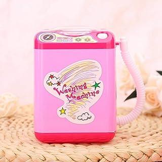 Wasmachine voor make-upborstels, mini-elektrische make-upborstelreiniger, roze batterijvoeding (niet inbegrepen) voor meis...