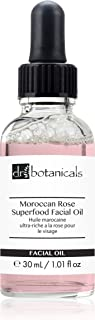 Dr Botanicals Vegan Moroccan Rose Superfood Facial Oil with Vitamins, and Essential OIls - Natural Best Anti-ageing repair...