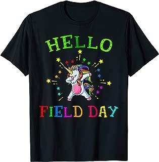 Hello Field Day Shirt Teacher Team Cool Dabbing Unicorn 2019 T-Shirt