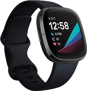 Fitbit Sense - Smartwatch Evoluto con Strumenti per la Salute del Cuore, Gestione dello Stress, Monitoraggio della Tempera...