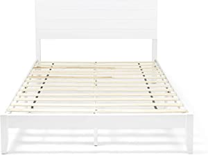 Christopher Knight Home Apollo Queen Size Bed with Headboard, Natural and White Finish