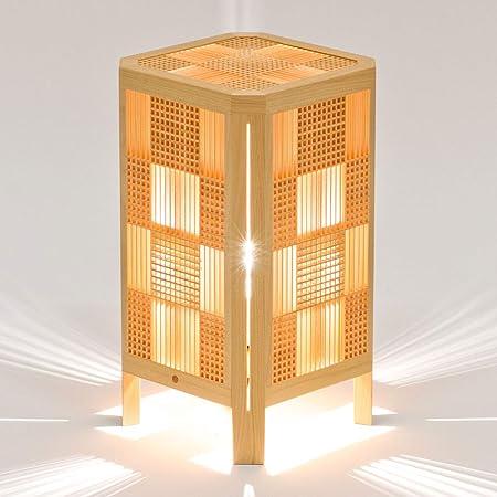 木のあかり 紫電 (しでん) テーブルランプ 組子照明 青森ヒバ製 国産手作り 25ワット