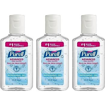 Purell Advanced Hand Sanitizer Refreshing Gel, 1 Fl Oz (3-Pack)