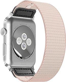 CISSDEN Elastic Bands Compatible with Apple Watch 38mm 40mm 42mm 44mm Women Men, Lightweight Nylon Breathable Sport Replac...