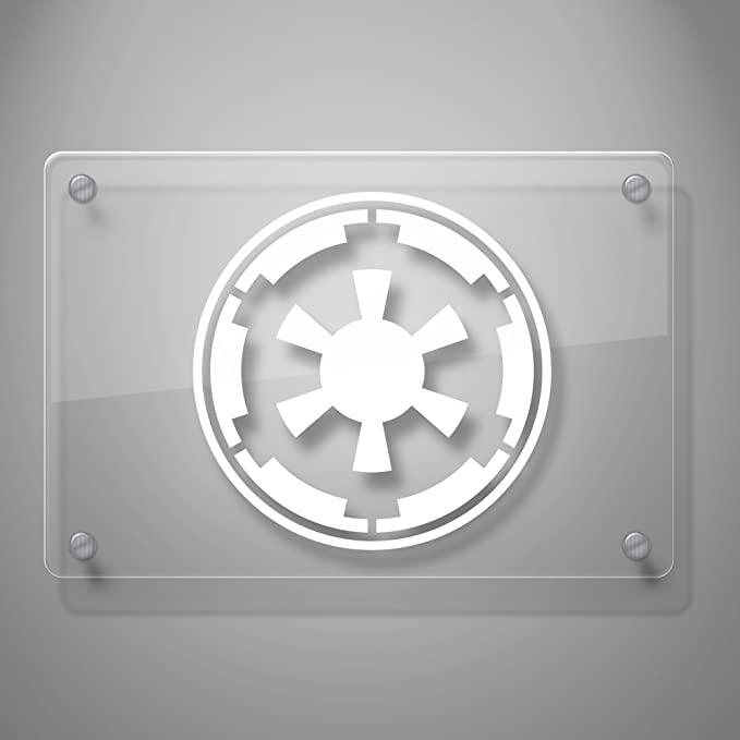Galactic Empire Star Wars Emblem Crest Decal Sticker for Car Window Walls Mirror and More # 477 Laptop 4, Black Motorcycle