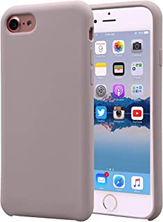 Alphacell iPhone 8/7 (Only) Silicone Case | Soft Slim Gel Rubber | Protective Phone Cover with Microfiber Lining for Apple iPhone 8 and iPhone 7 | Pastel Pink