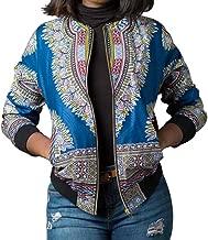 iTLOTL Women Dashiki Long Sleeve Fashion African Print Dashiki Short Casual Jacket