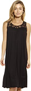 Dreamcrest Silky Soft Nightgown Women Sleepwear Crochet Trim Sleep Dress