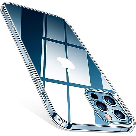 TORRAS Crystal Clear Cover iPhone 12, Cover iPhone 12 PRO, Non ingiallente, Custodia Sottile Morbida TPU paraurti in Silicone Copertura del Telefono, Trasparente