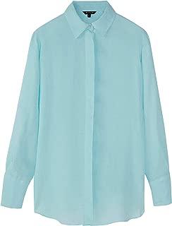 Massimo Dutti Women 100% Linen Oversized Blouse 5174/512
