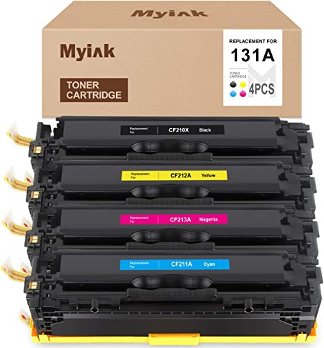 2021 MYIK Remanufactured Toner Cartridge Replacement for HP 131X 131A CF210A CF210X CF211A CF212A CF213A for Pro 200 Color M276nw M276n M251nw outlet sale Canon MF8280Cw LBP7110Cw outlet sale (Black, Cyan, Magenta, Yellow) online