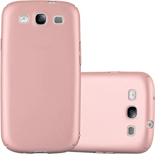 Cadorabo Case Works with Samsung Galaxy S3 / S3 NEO in Metal ROSÉ Gold – Shockproof and Scratch Resistent Plastic Hard Cover – Ultra Slim Protective Shell Bumper Back Skin